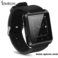 Symrun Hot Selling Ce Rohs Silicone Smart Watch U8 Wristwatch Cheap Support Bluetooth Speaker Android Mobile Phone wrist watch