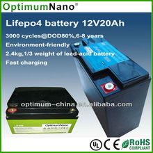 Deep cycle life 12v 15ah lithium battery for electric golf trolley