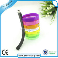 100% Full Capacity bracelet usb wristband usb flash memory stick with Customize logo