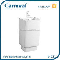 B -021 sanitary toilet wash basin wall with pedestal