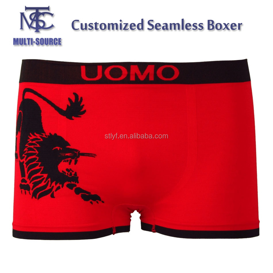 High quality adult knitted underwear seamless men boxer short.
