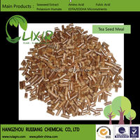 Tea Seed Pellet for golf turf to kill earthworms, slugs, worms/cast away/ high contain of Tea Saponin/ extract from camellia