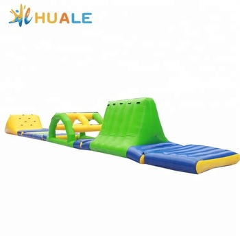 Huale customized inflatable floating water park, inflatable water games for sale