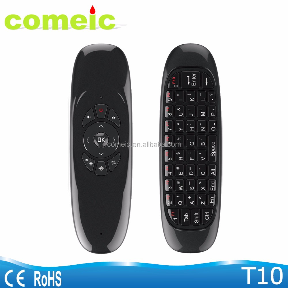 T10 Rechargeable Wireless Air mouse with keyboard remote control for smart tv iptv
