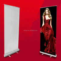 indoor advertising display retractable pull up banner stand 80*200cm
