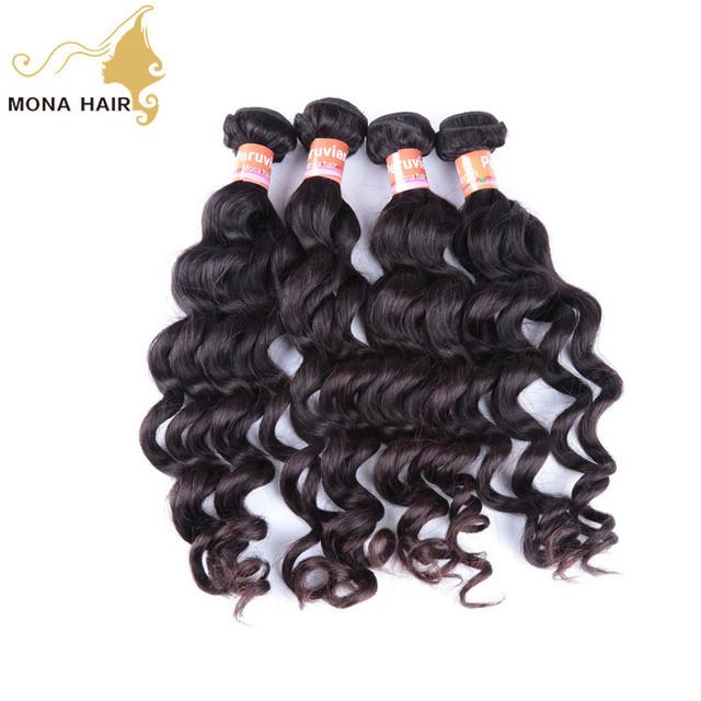 top selling great feedback human hair Peruvian loose deep wave weave hairstyles