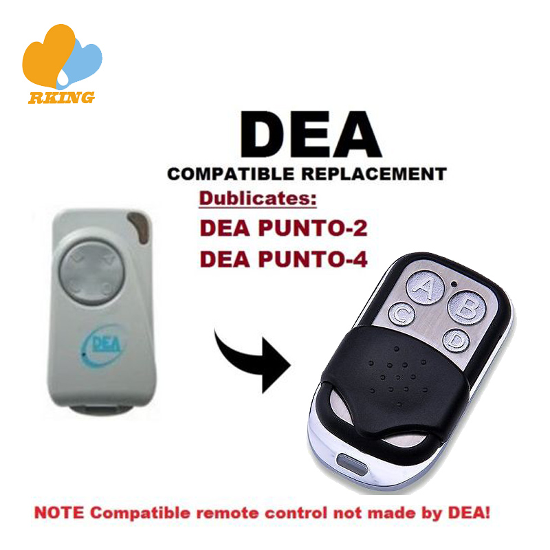 DEA PUNTO-2 PUNTO-4 Garage Gate Universal 4-Channel Remote Control Replacement Cloning Duplicator Remote Control Key Fob 433Mhz