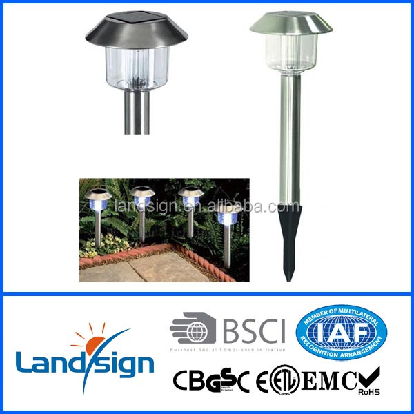 waterproof solar panel led lighting high lumen garden path lights