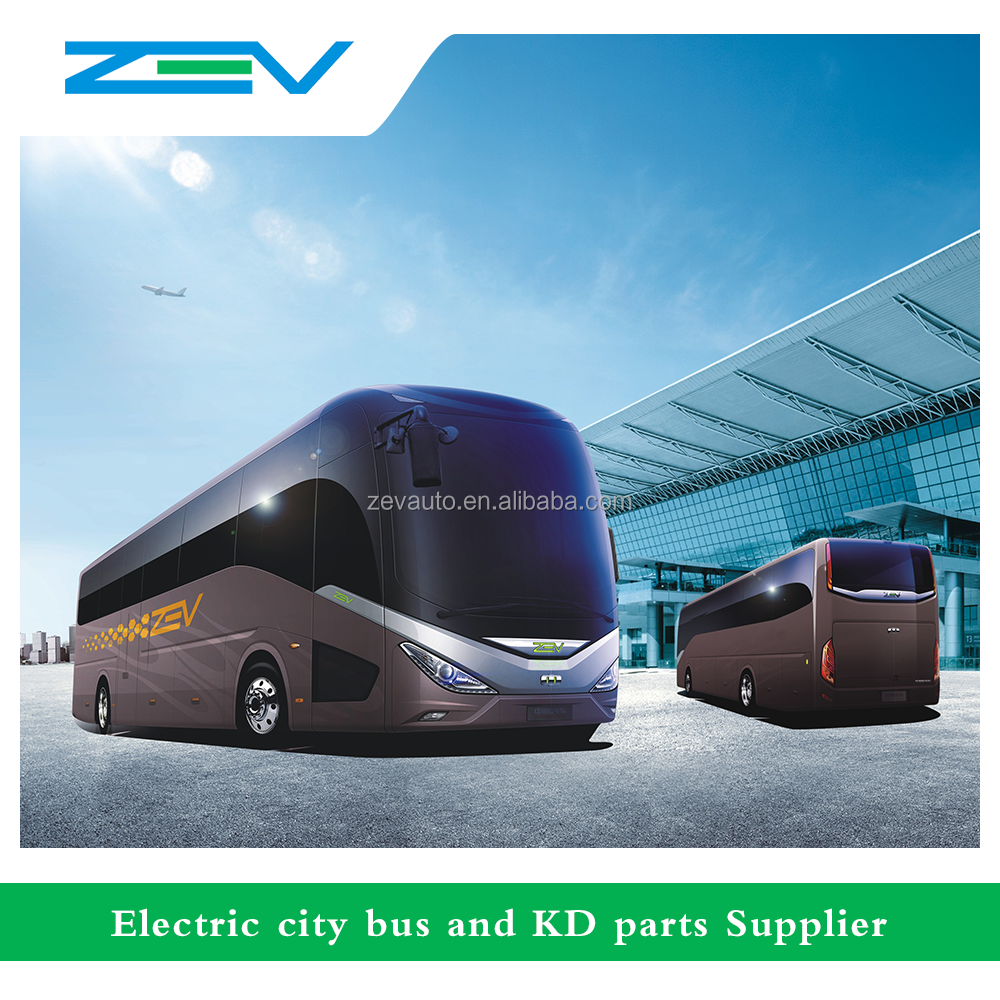 ZEV AUTO CDL6110LRBEV 11 meters 19 seats electric coaster mini bus toyota like coaster