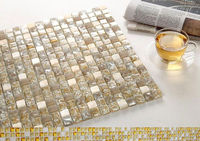 NEW design beautiful Crystal Mosaic glass with High and Low Temperature Resistance