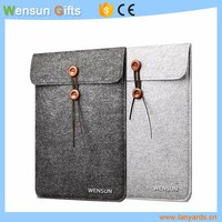 Simply designed felt laptop sleeve high quality decent promotional gifts