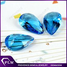 Wholesale Price Pear Shape Synthetic Colored Glass Gems