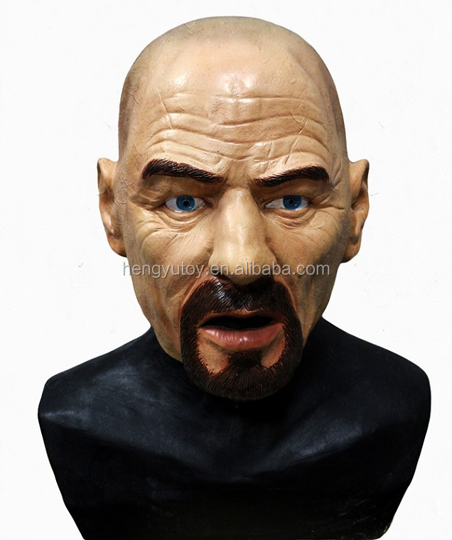 Latex Heisenberg Halloween Fancy Dress Costume Breaking Bad Walter White latex real face mask