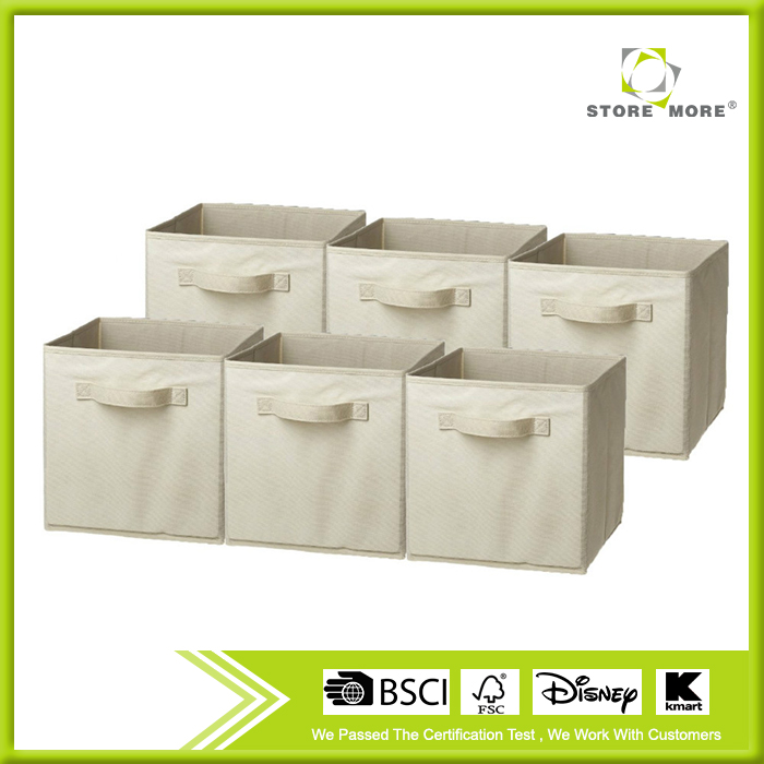 6 Pack Foldable Storage Cube Basket Bin