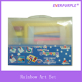 Rainbow Art Set With Handy Plastic Box,Art Set Painting For Kids