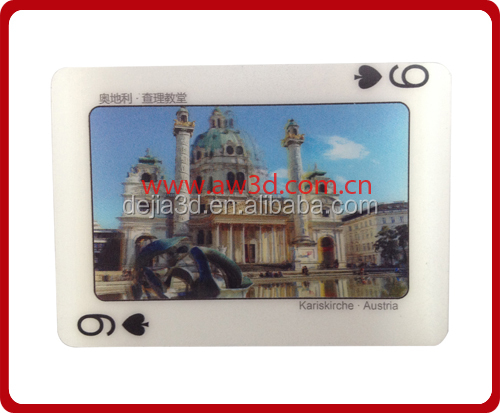 Hot Sell 3D lenticular plastic cards (different images change)