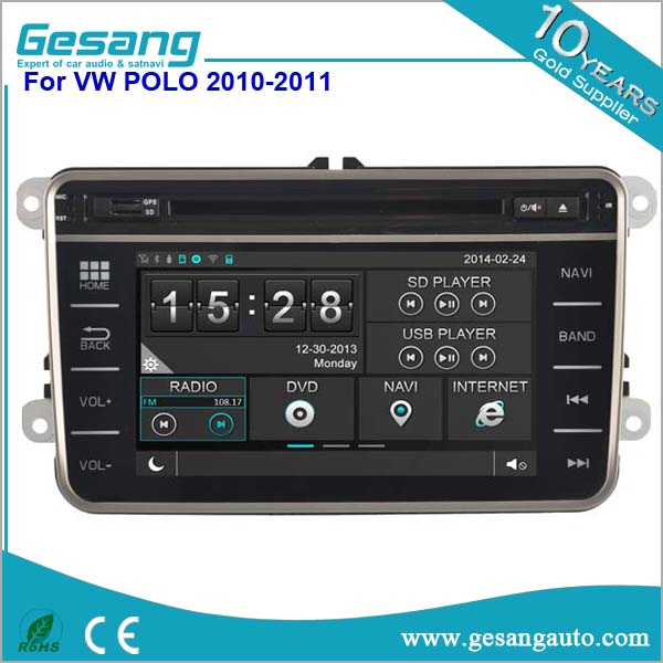 Touch screen car stereo for VW Volkswagen POLO 2010-2012 with CE/ROHS certificates with bluetooth 3G and wifi