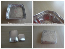 Recyclable Household Rectangular Hot Sale Takeaway Aluminum Foil Food Container/Plate/Tray