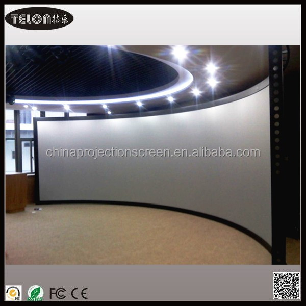 Curved projection screen /circular projection screen /Curved fixed frame screen with front material