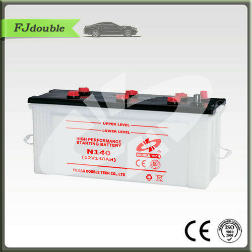 car battery N140 dry charged auto/automobile/car starting battery JIS