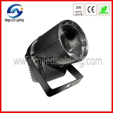 hot sale 3W*1pcs DMX mini led pin spot light