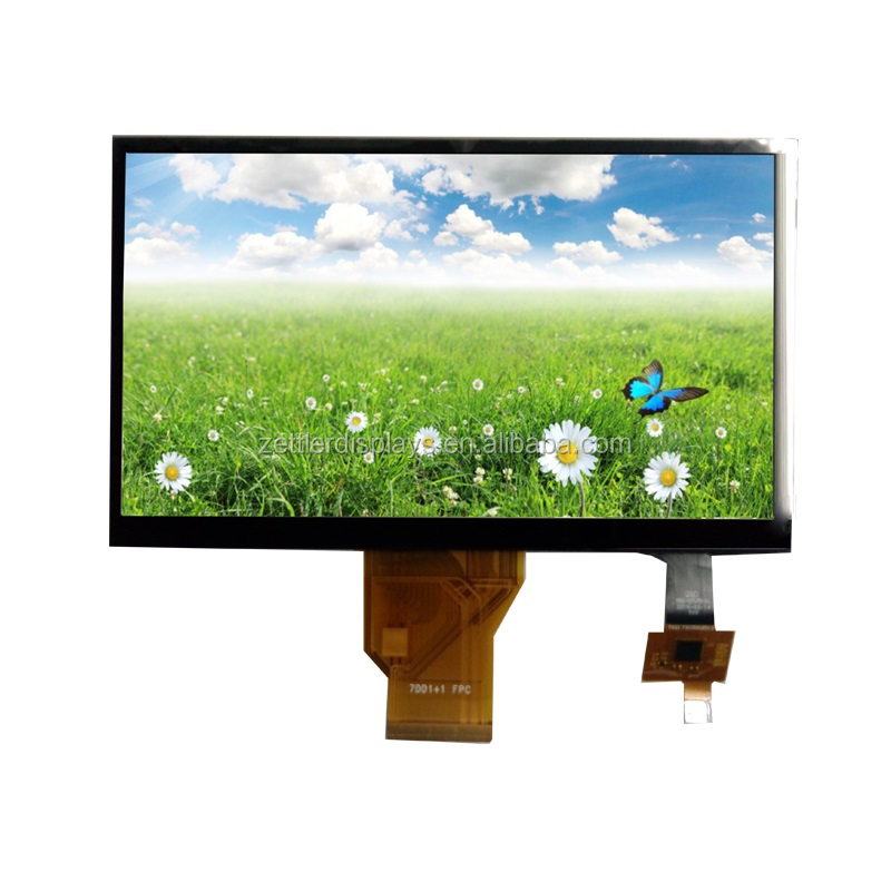 7 inch tft monitor with capacitive touch panel, 800x480 tft lcd display