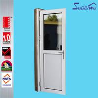 German hardware double toughened aluminium swing door clean door entry system