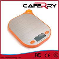 Stainless steel coating & Silicon digital kitchen and food scale for hanging function