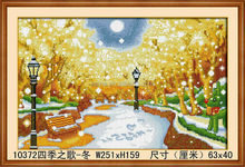 BEAUTIFUL WINTER TREE LANDSCAPE DIAMOND WALL PAINTING