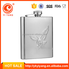 18/8 metal Professional Factory wine hip flask