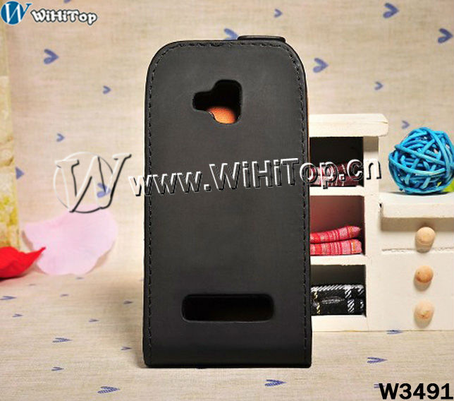 For Nokia Lumia 610 leather flip cover case, Leather Flip Case For Nokia Lumia 610.