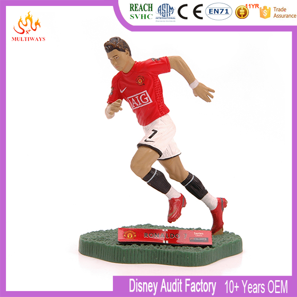 3D Custom Plastic Hot Toys Football Player Action Figure