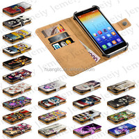 For Lenovo Golden Warrior S8 Printing PU Leather Wallet Flip Cover Original Universal Smartphone Case With Stand & Card Slots