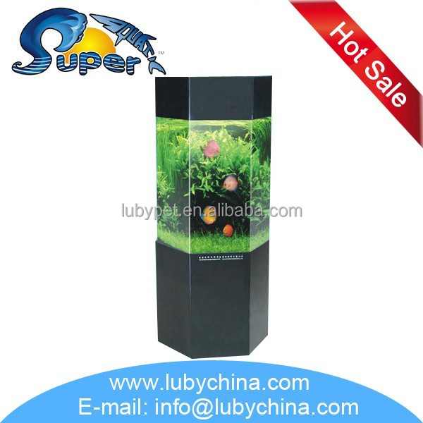 JC Series sunsun series Acryl round Aquarium for fish tank, with different shape
