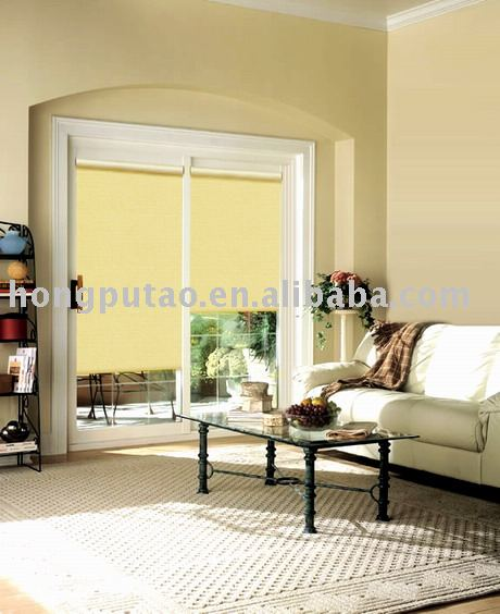 Match color black out roller blind fabric