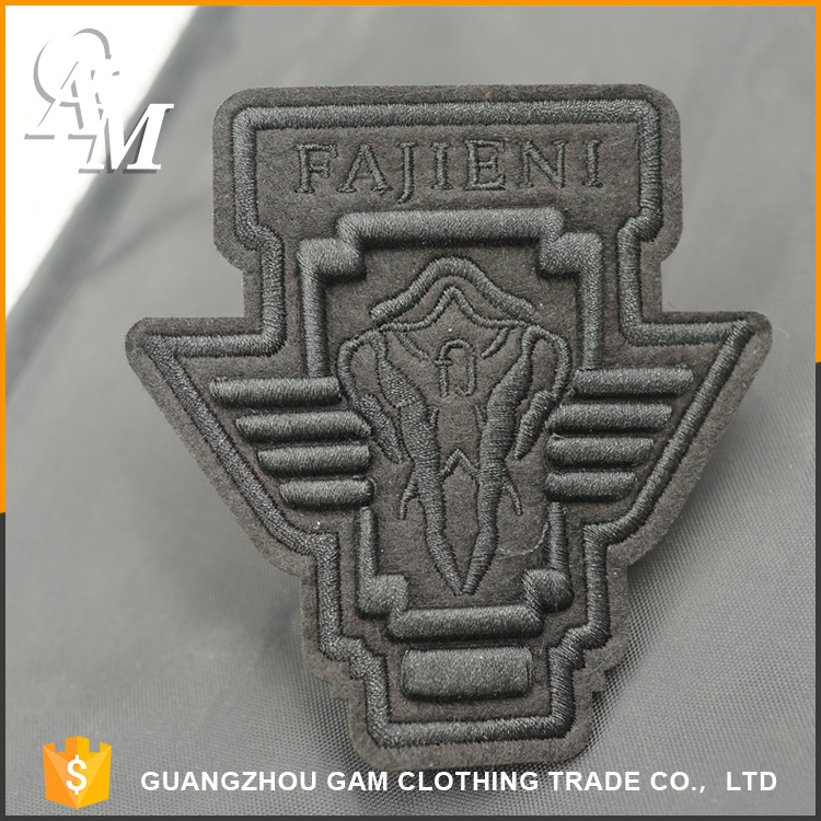 2017 Fashion custom clothing embroidery wholesale brands woven patch