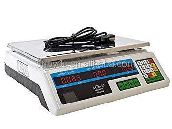 digital price computing 30 kg hanging scale with tray