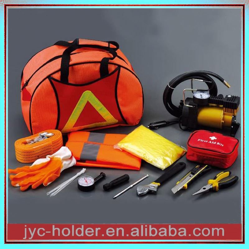 Auto emergency tool kits ,H0Trr printing logo road safety kit