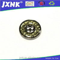 special design metal 4 hole button with custom logo for shirt