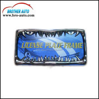 Zinc alloy standard American 310*165mm size custom metal car license plate frame