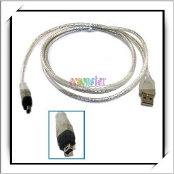 USB To Firewire Cable IEEE 1394 4 Pin Travel (3.94 feet)(Fire Wire Cable )