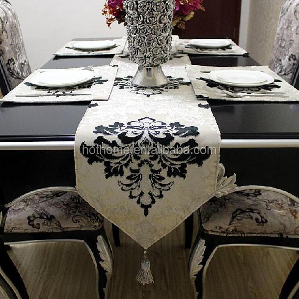 fashion decorative crochet table runner with Tassel for wedding