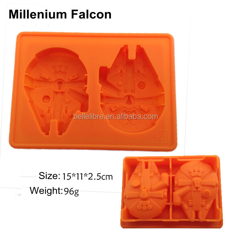2016 wholesale silicone ice tray for star war free sample