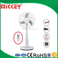16 Rechargeable Standing Fan Solar Rechargeable