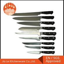 Hot sales Japanese style stainless clad steel 9 pcs chef knife set