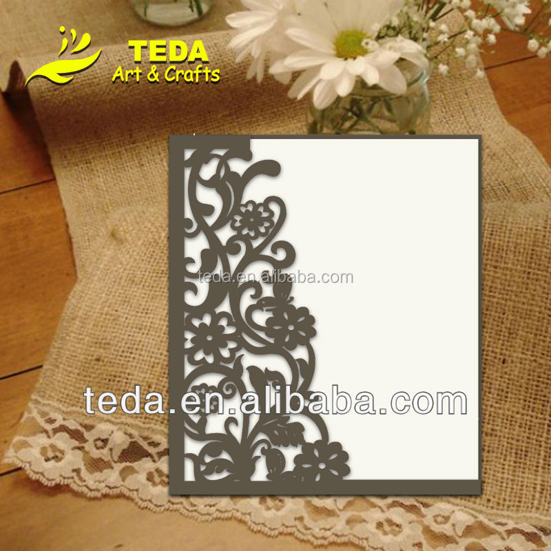 Laser Cut Invitation Card on Pearl Paper with matched Envelope