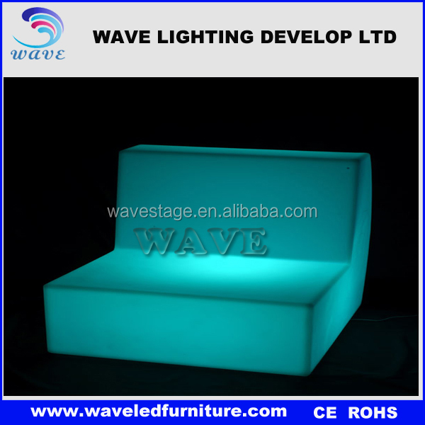 hot selling high quality illuminated outdoor plastic modular bar furniture