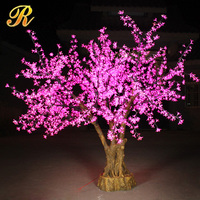 Pink color LED cherry blossom light tree sale