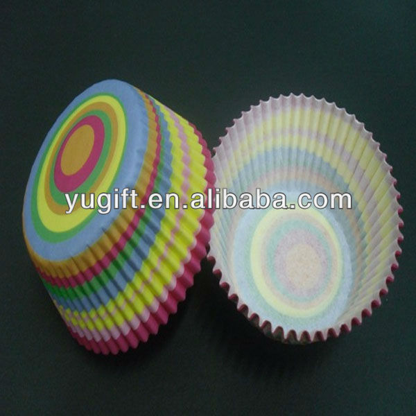 Rainbow Circle Striped Paper Cupcake Liners Wholesale Cheap
