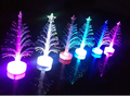 craft artificial LED 7colors changing fiber optic christmas tree decoration